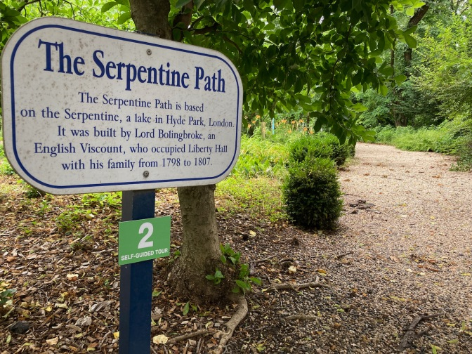 Sign for Serpentine Path.