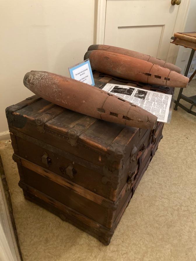 Terra cotta bombs on chest.