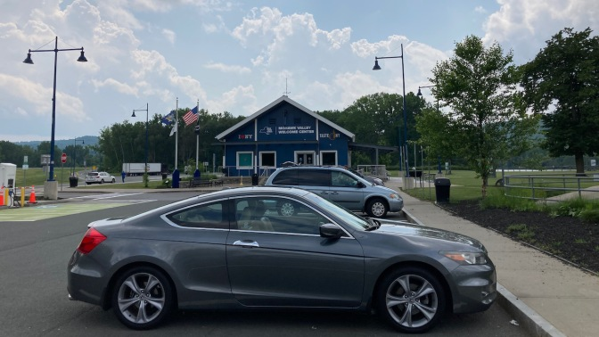 2012 Honda Accord parked in front of Mohawk Valley Welcome Center.