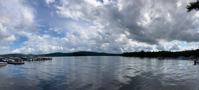Panorama of Fourth Lake in the Adirondacks.