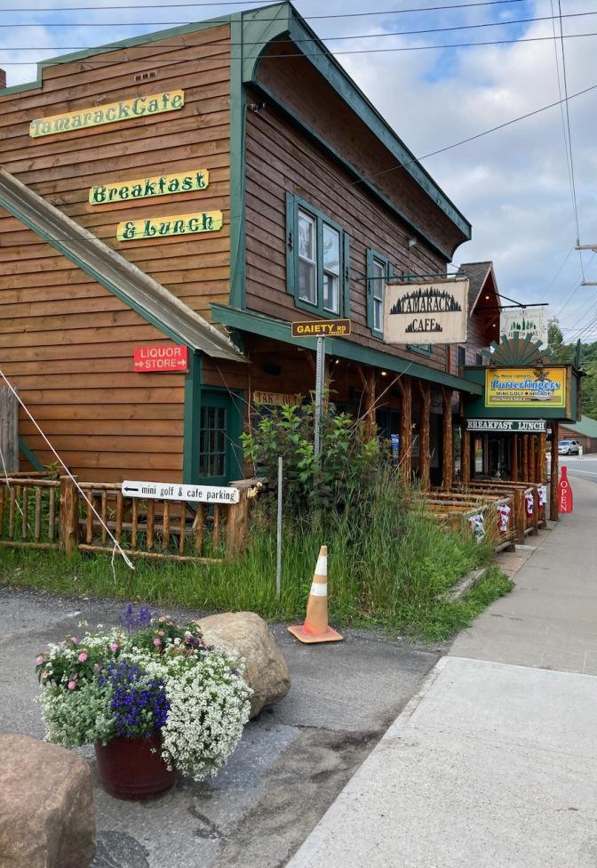 Exterior of Tamarack Cafe.