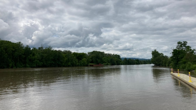Mohawk River in distance.