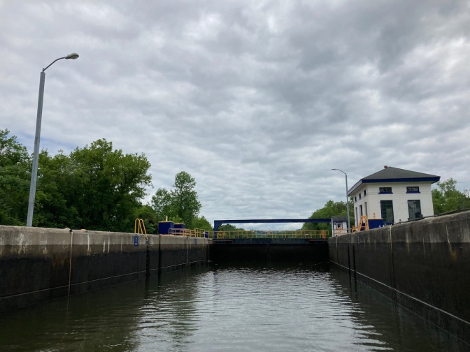 Inside of Erie Canal lock E18.