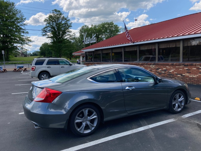 2012 Honda Accord parked in front of Kayuta Drive-In.