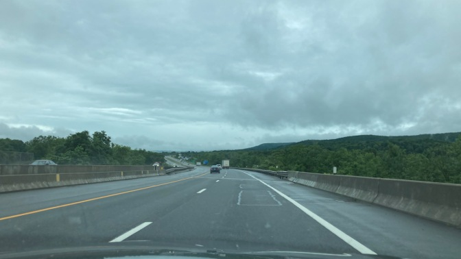 View of New York Thruway heading east.