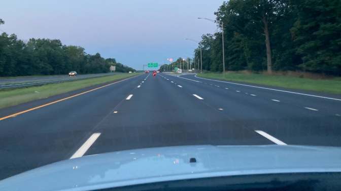 View of I-287 in early morning hours.