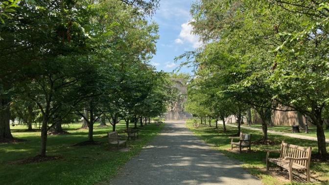 Small park near Princeton Battlefield Monument.