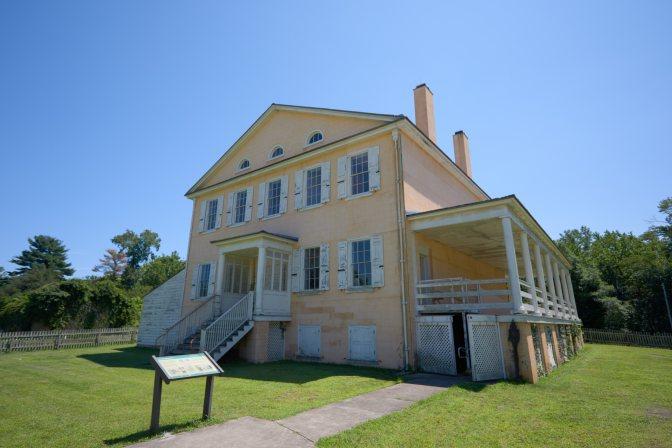Exterior of Atsion Mansion.