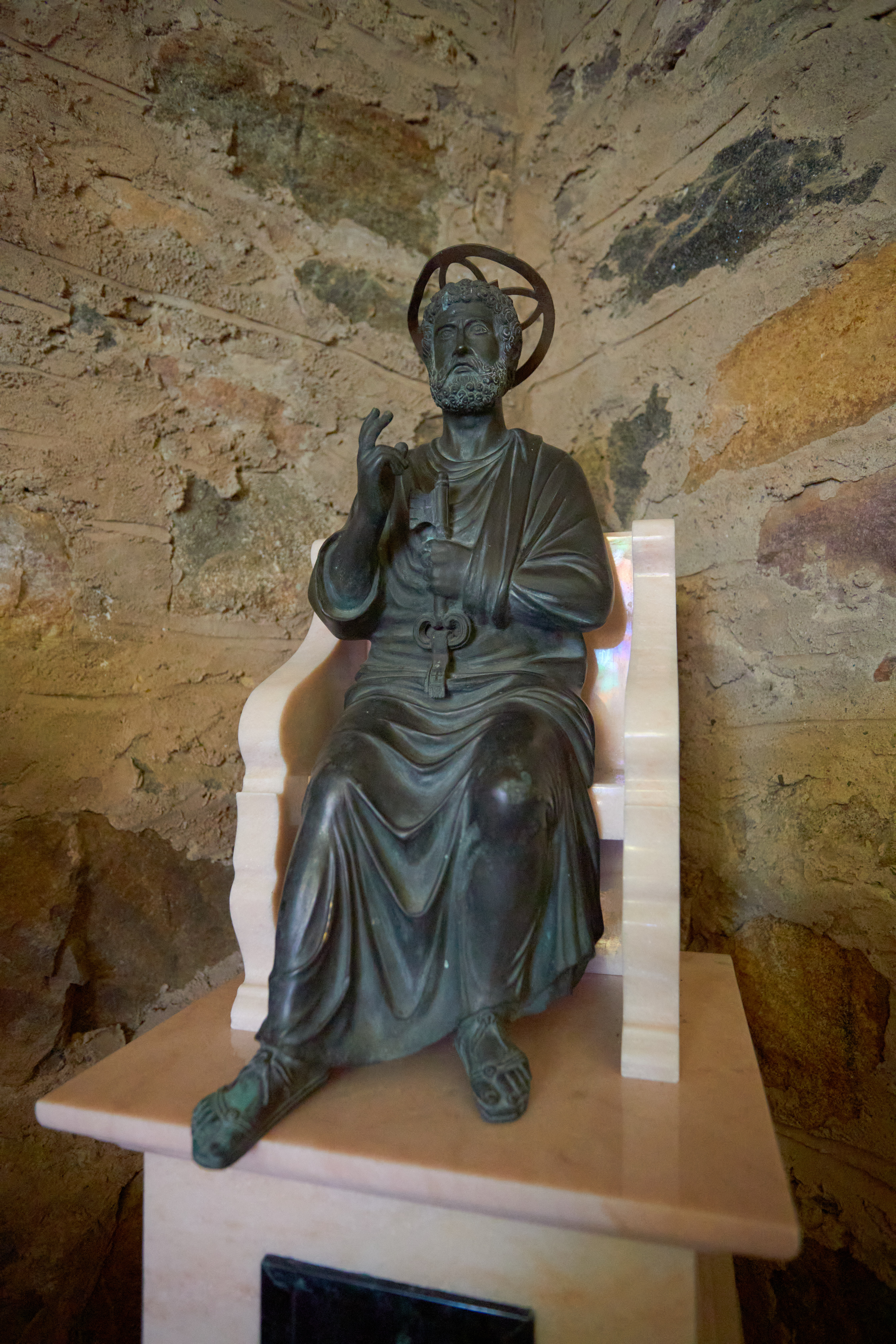 Small statue of St. Peter.