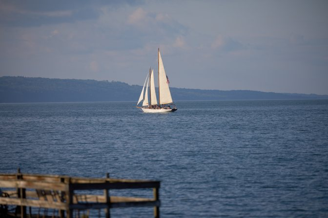 Sailing ship on Seneca Lake.