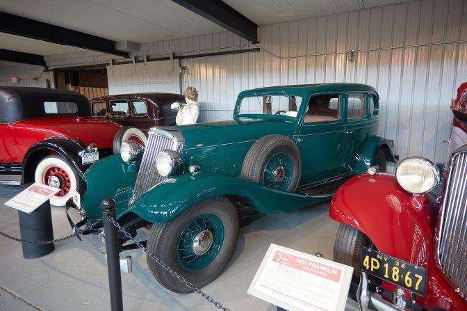 1932 Franklin sedan in teal.