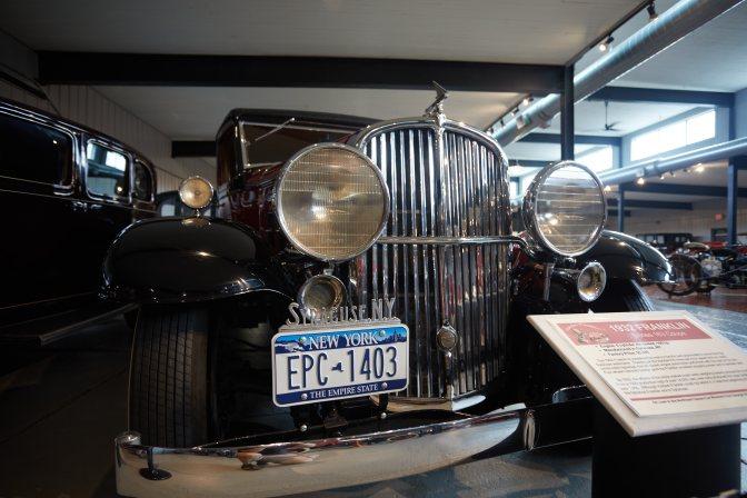 1932 Franklin sedan in black.