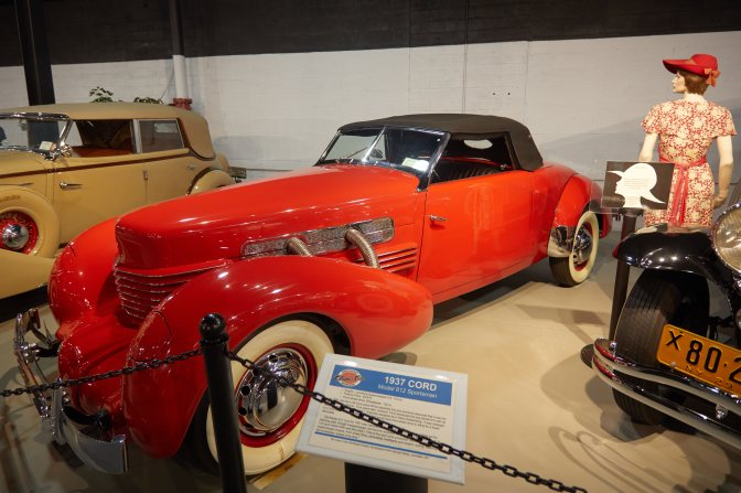 1937 Cord 812 Sportsman, in Red.