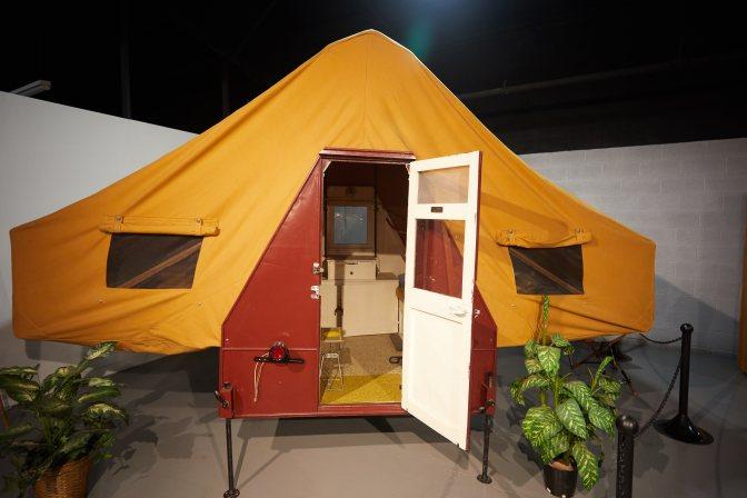 Chenango Camp Trailer, fully set up.