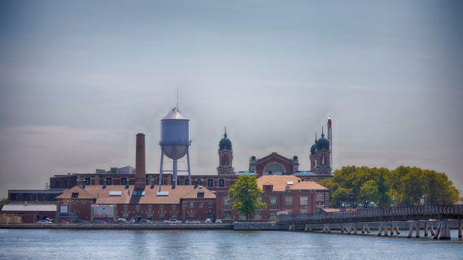 View of Ellis Island.