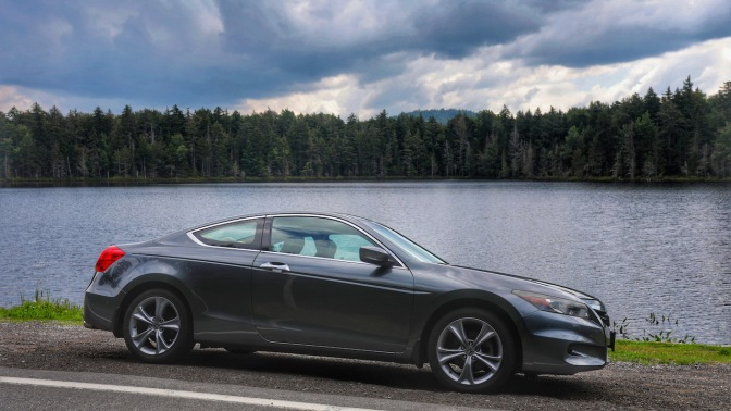 2012 Honda Accord, parked beside Quiver Pond.
