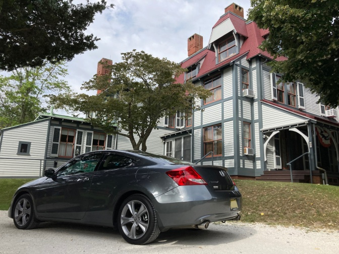 2012 Honda Accord parked in front of Emlen Physick Estate.