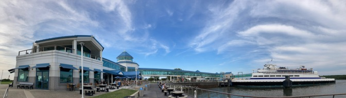Panorama of Cape May Ferry Terminal.