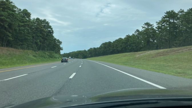 View of Garden State Parkway, headed north.