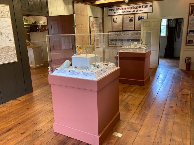 Interior of Cedar Bridge museum.