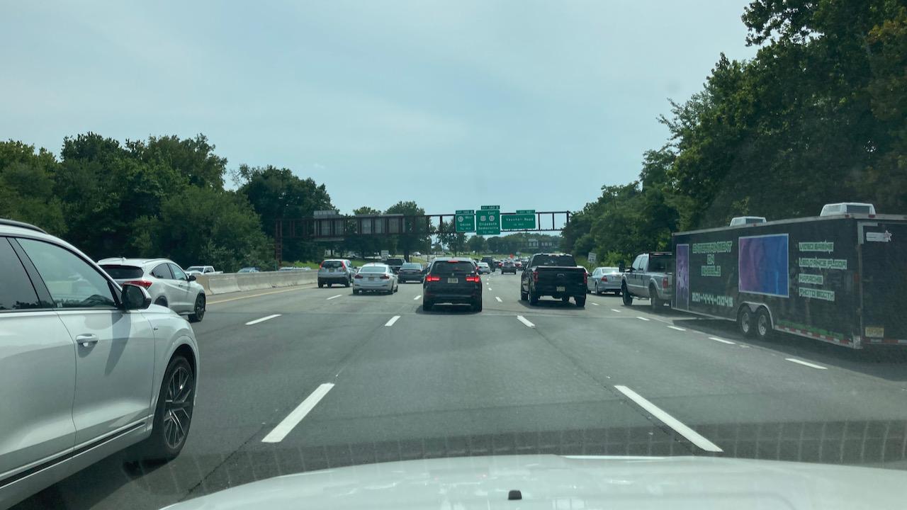 Traffic on Garden State Parkway.