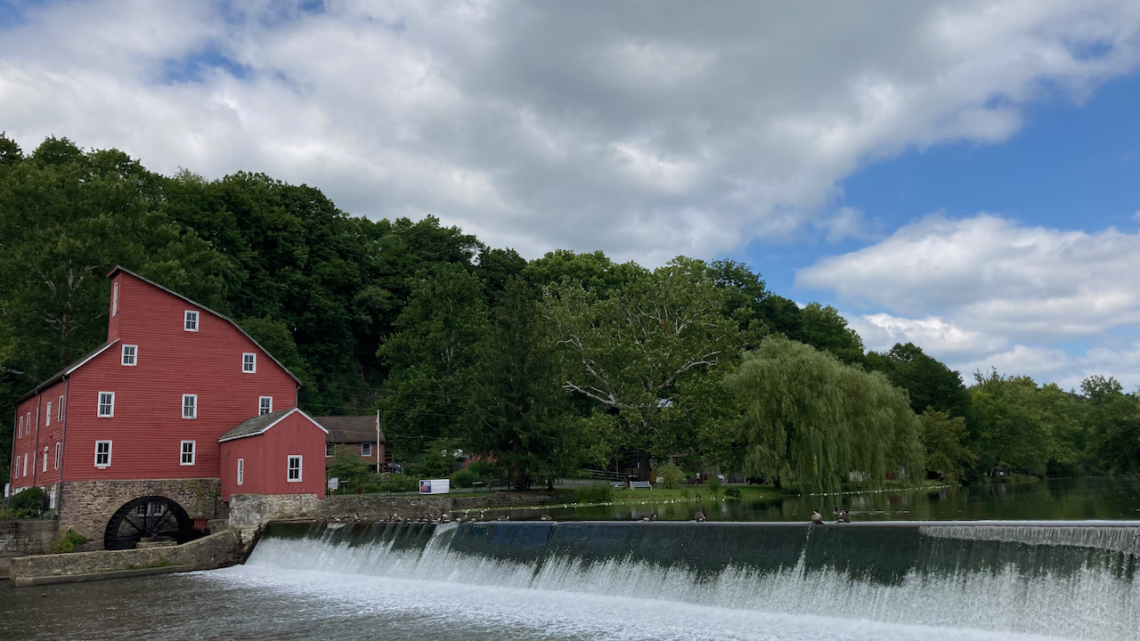 View of Red Mill and South Branch Raritan River.
