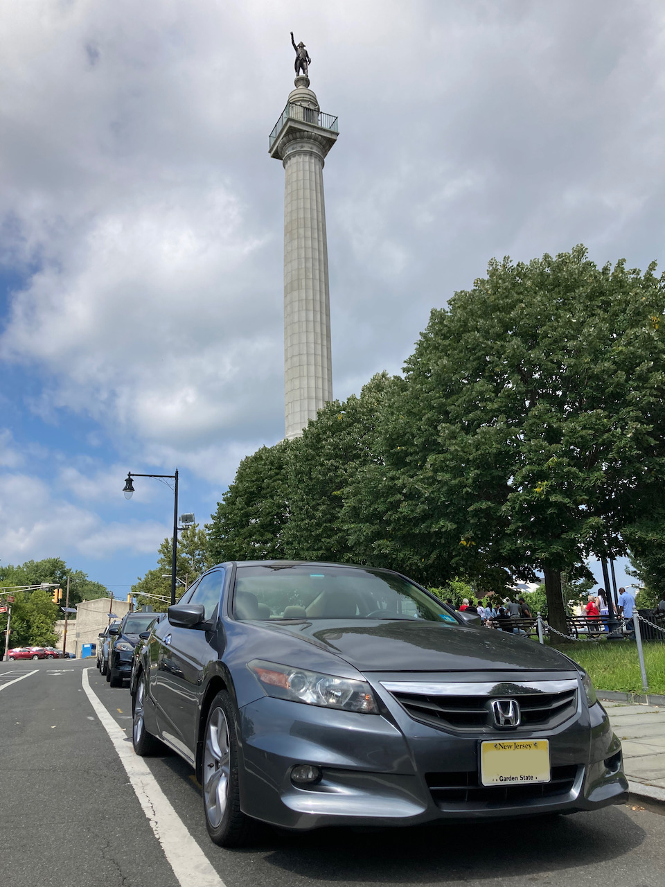 2012 Honda Accord, parked in front of Trenton Battle Monument.