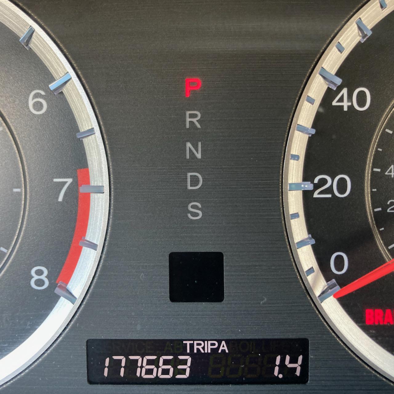 Car odometer reading 177663 TRIP A 1.4