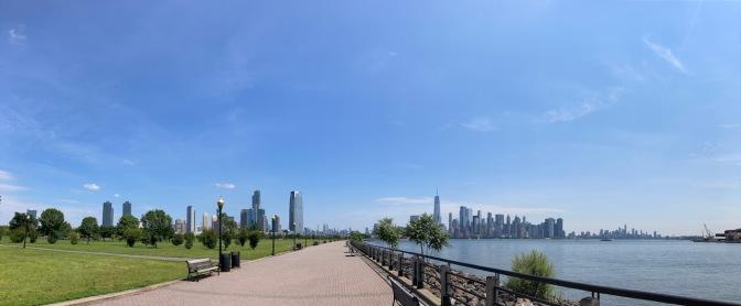 Panorama of Liberty State Park.