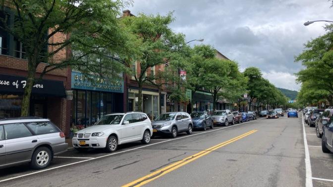 View along West Market Street.