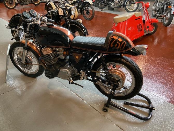1971 Honda CB750 motorcycle in black.