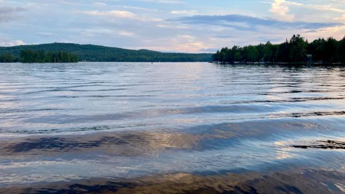 View of Fourth Lake in Adirondacks.