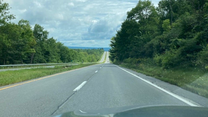 View of US Route 20.