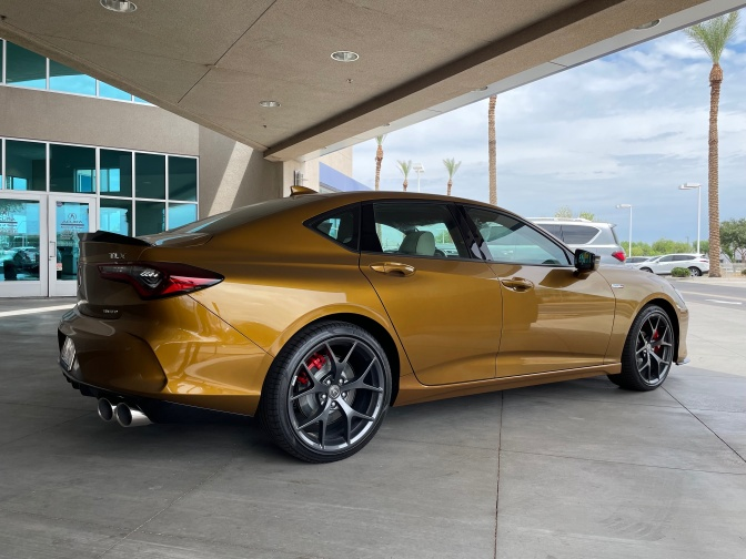 2021 Acura TLX Type S in Tiger-Eye Pearl.
