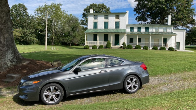 2012 Honda Accord, parked in front of Hollingsworth House.