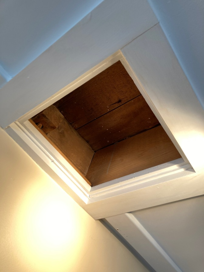 Exposed section of ceiling joint.