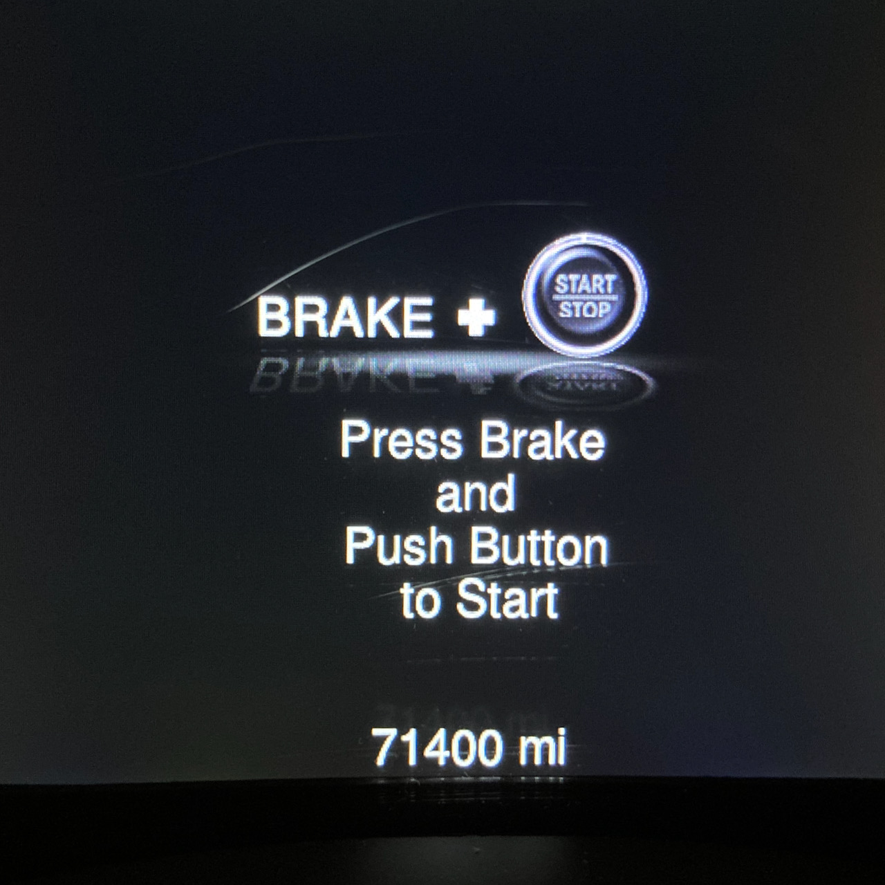 Car odometer reading 71400 miles.