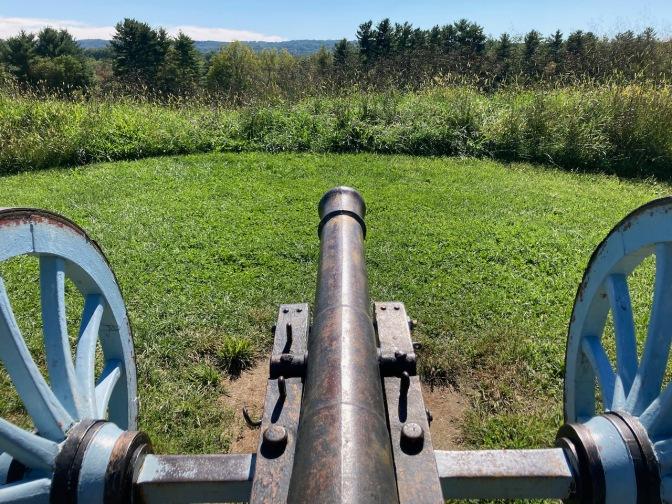 Canon overlooking hilltop.