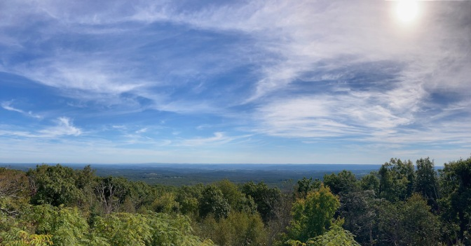 Panorama of view from top of High Point.