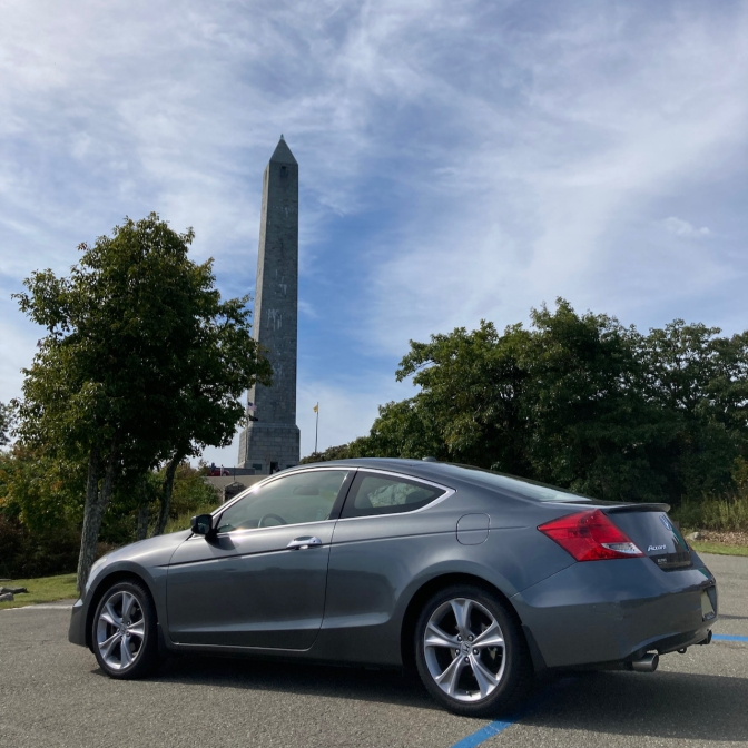 2012 Honda Accord parked in front of High Point Monument.