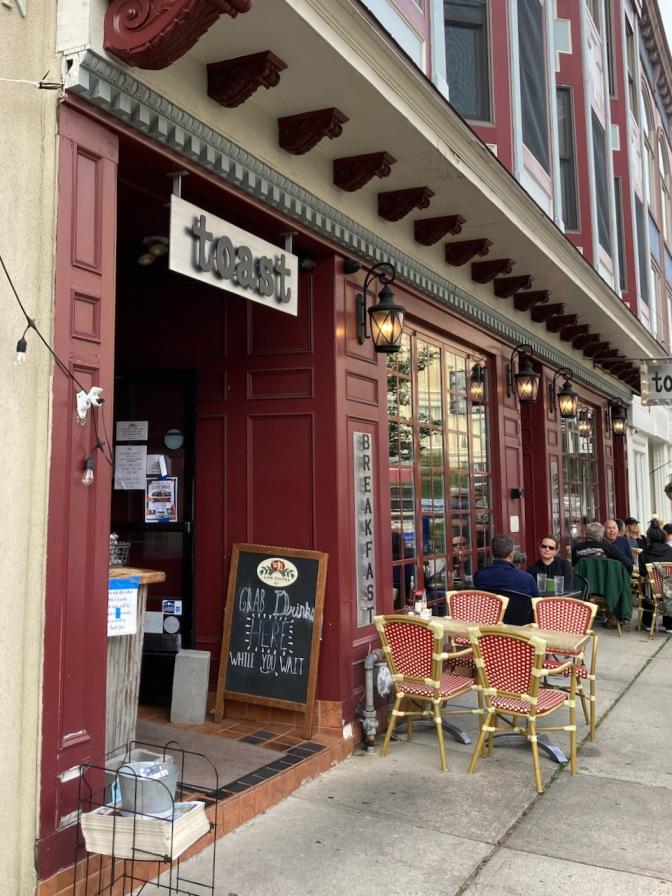 Exterior of Toast restaurant.