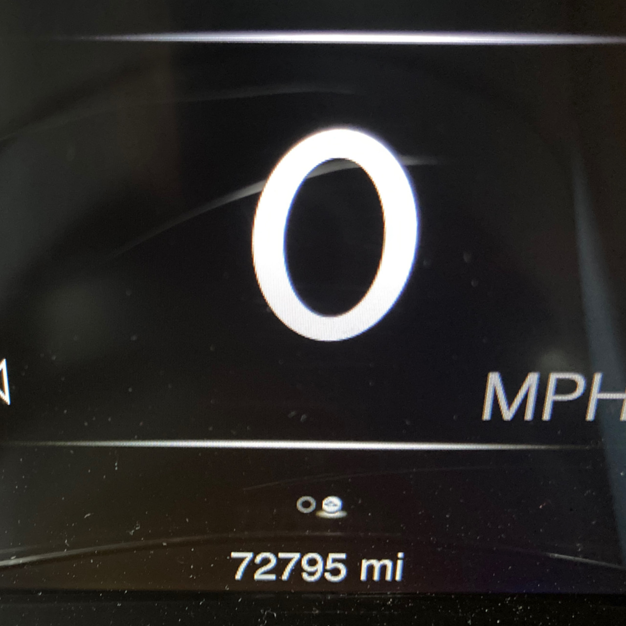 Odometer reading 72795 MI